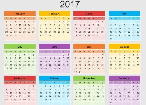58 Stunning 2017 Printable Calendar Templates Printable calendar - printable calendars