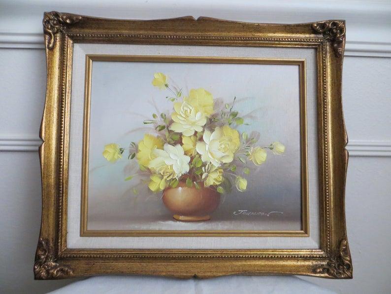 "8x10/"" Mounted 1960/'s Vintage Floral Flowers Print Corner in July Vernon Ward"