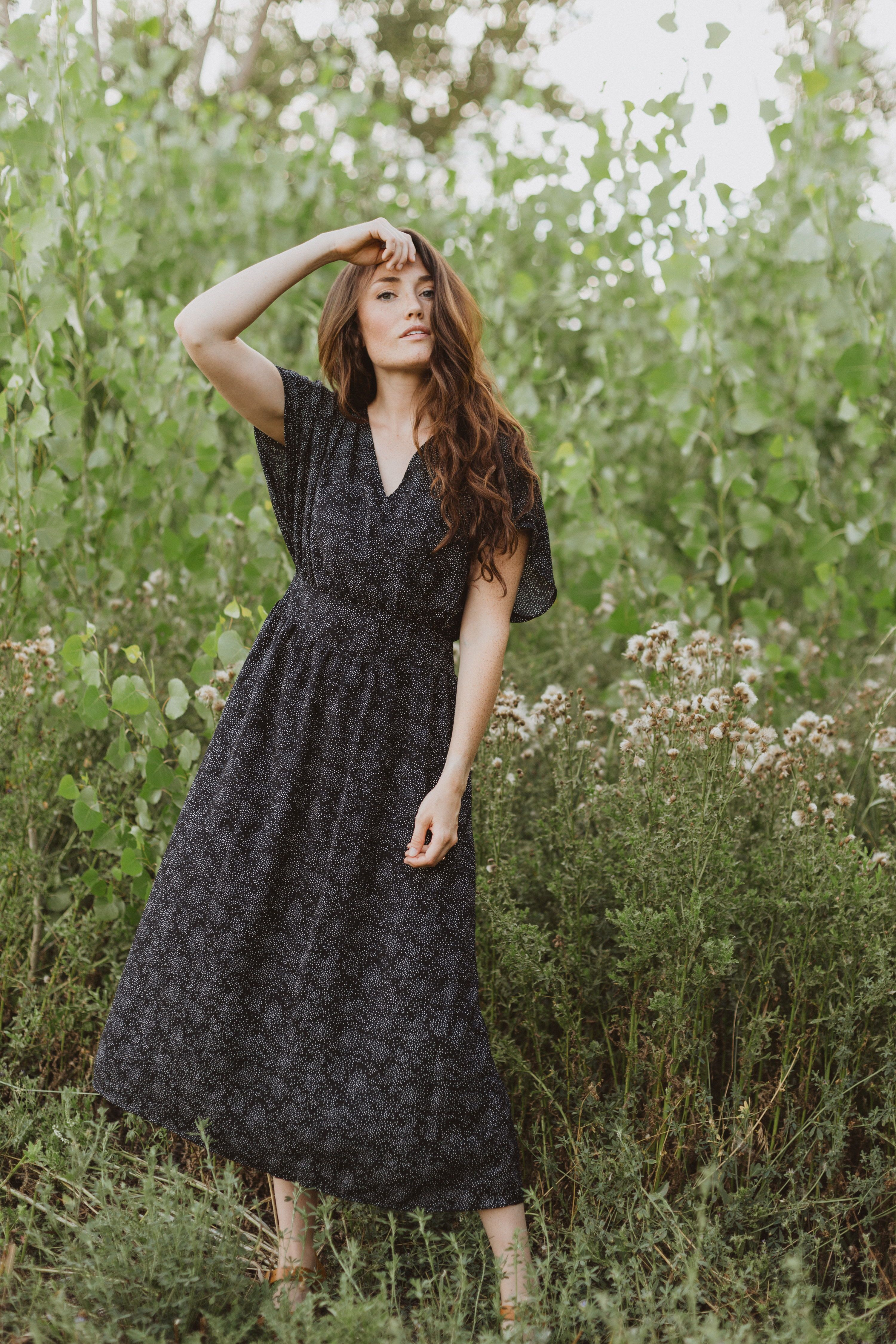 The Amity Dot Wrap Midi Dress Is A Black Dress In A Midi Length With An Intricate Tiny Dot Pattern It Is Our Latest Exclusi Dresses Midi Dress Piper And Scoot [ 4500 x 3000 Pixel ]