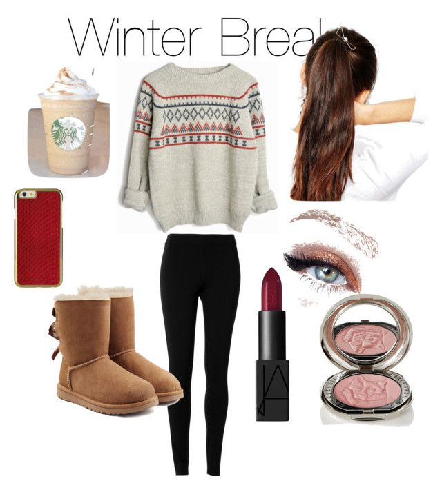 """""""Basic white girl on winter break"""" by ashleh1 ❤ liked on Polyvore featuring Max Studio, UGG Australia, NARS Cosmetics, Chantecaille and ASOS"""