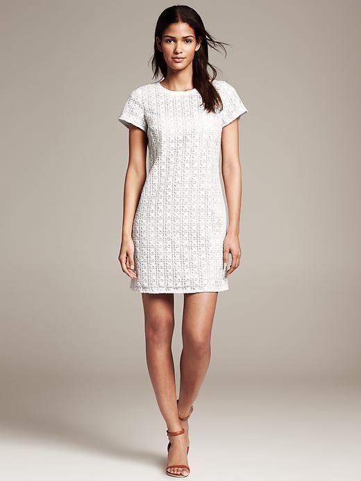 Banana Republic White Eyelet Shift dress | Spring and Summer Style ...