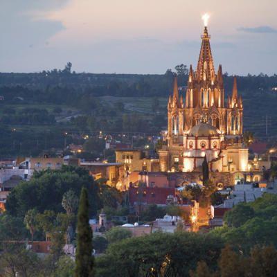 La Parroquia de San Miguel de Allende.