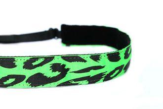 Cheetah Neon Green Adjustable Non-Slip Headbands www.mavibandz.com