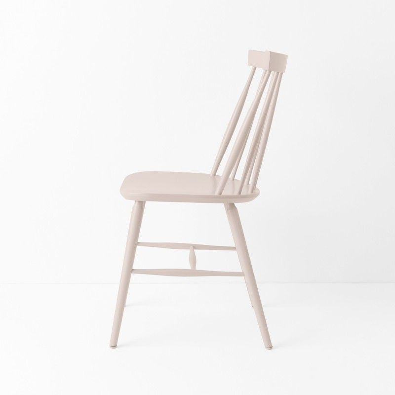Chaise Scandinave Laque Rose Poudre Chaise Scandinave Chaise Vintage Chaise