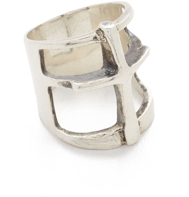 silver cross ring @pamelalovenyc