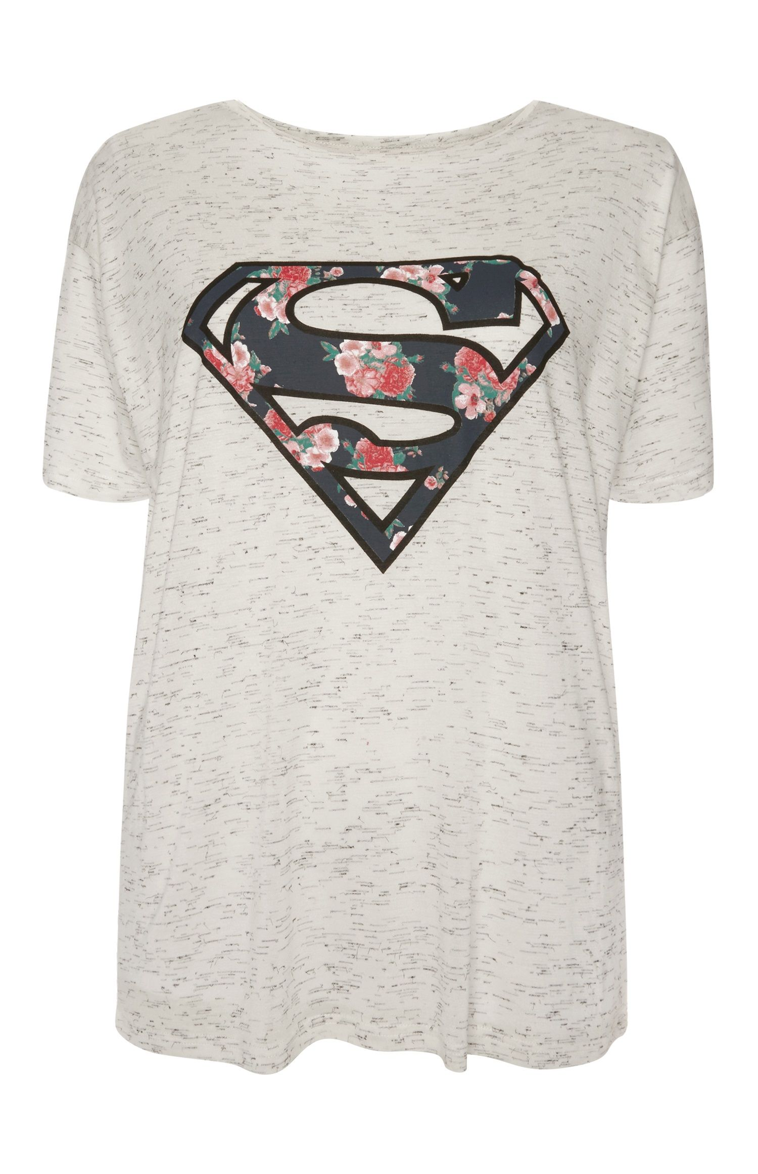 7ced08568c684 Primark - Grey Floral Superman T-Shirt | Superman! in 2019 ...