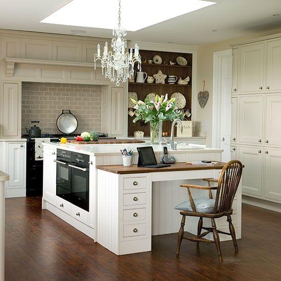 Neutral kitchen-diner with modern dresser | Kitchen decorating ...