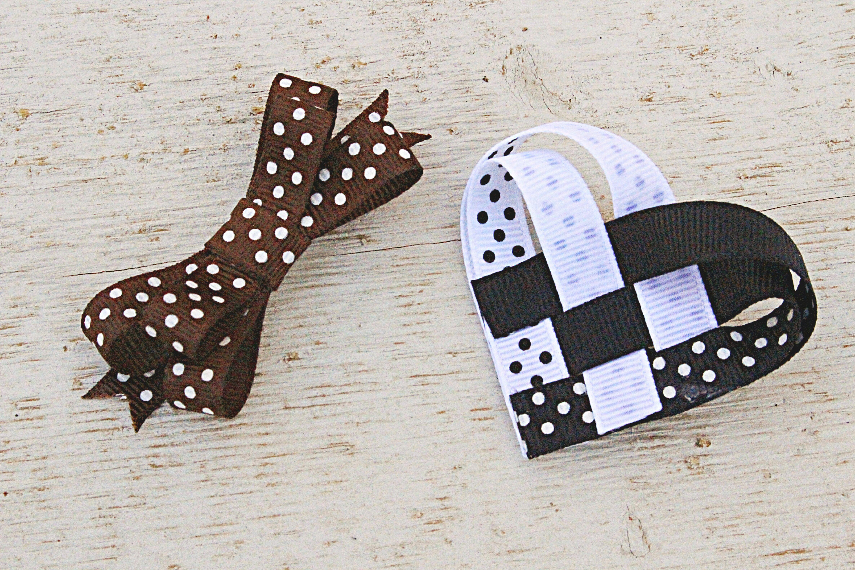 NewPolka-dots Hair Clip Bow Accessories Black White