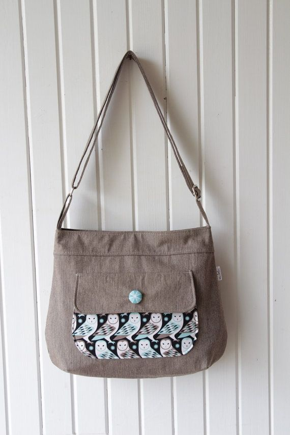 The Thistle Pocket Tote Cross Body Bag PDF von BlueCallaPatterns ...