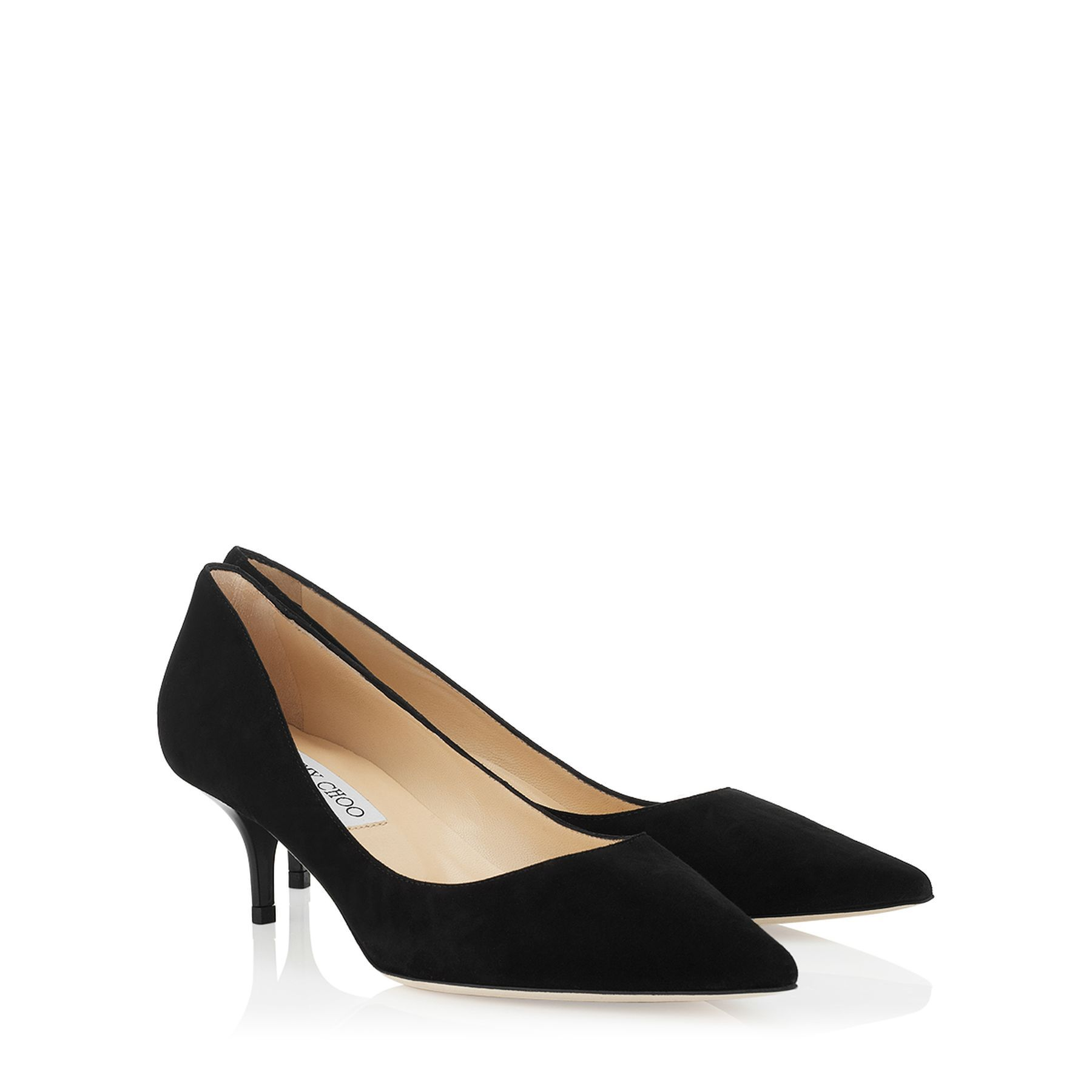 Black Suede Pointy Toe Pumps   Pointed