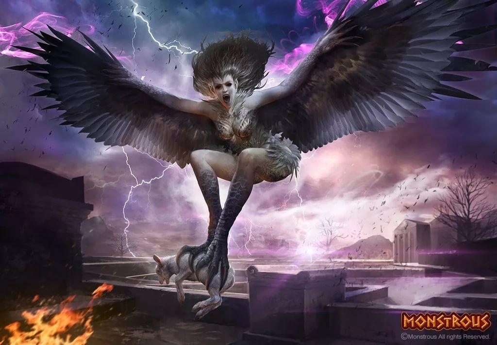 Картинка монстр с крыльями