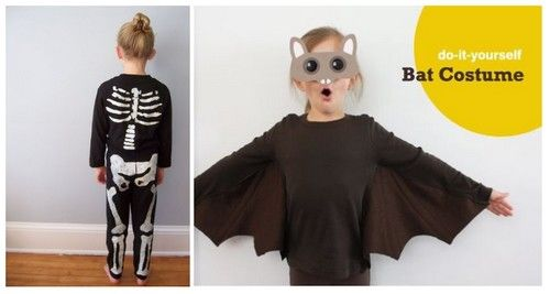 costume deguisement halloween enfant chauve souris squelette diy diy pinterest deguisement. Black Bedroom Furniture Sets. Home Design Ideas