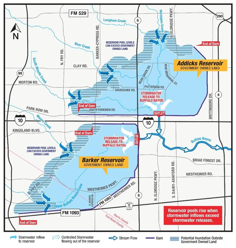 Reservoir Map Harris County Flood Control District With Images