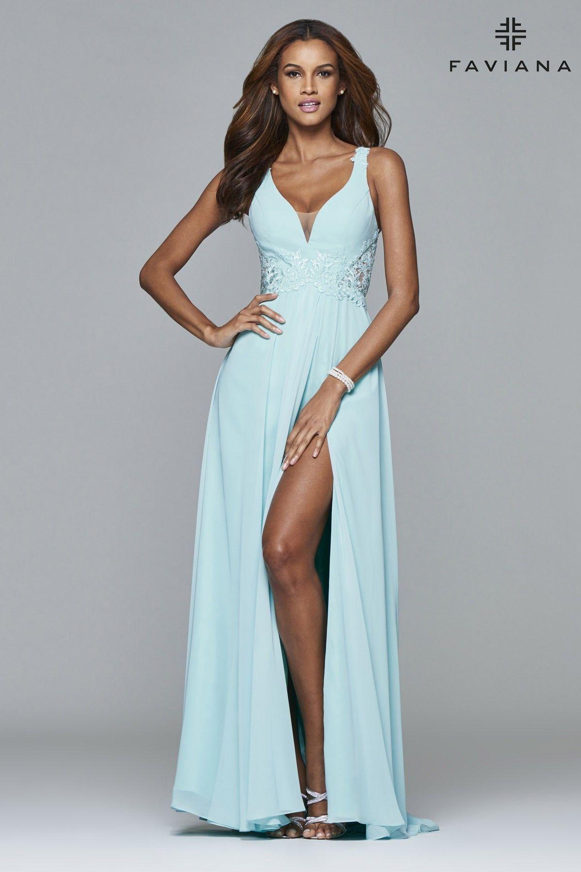 7941   Lace detail, Prom and Chiffon dress