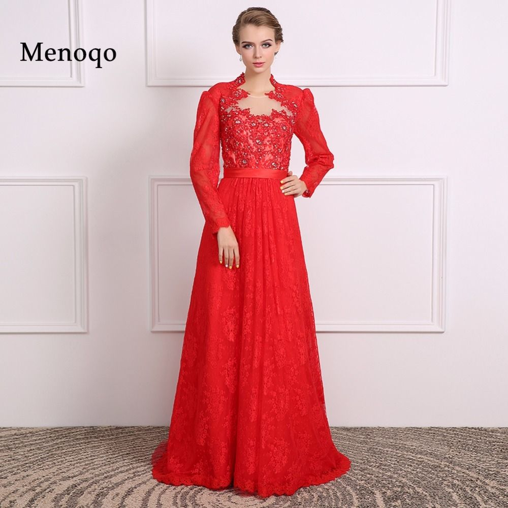 Dressy new star mother of the bride dresses red gown long