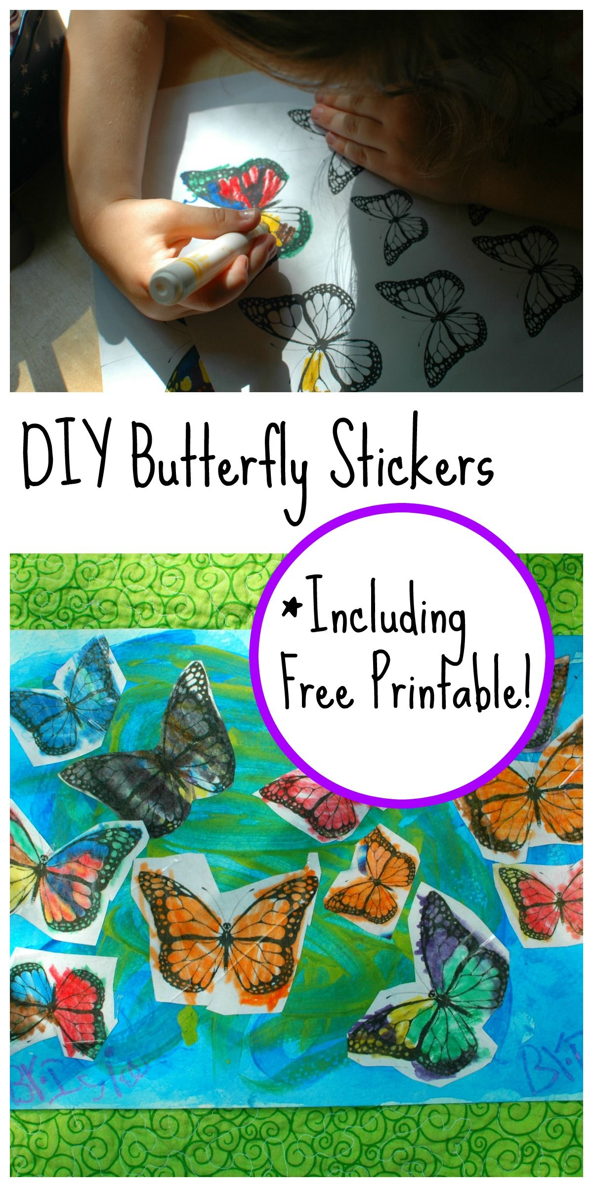 Easy Diy Butterfly Stickers A Fun Activity For All Ages
