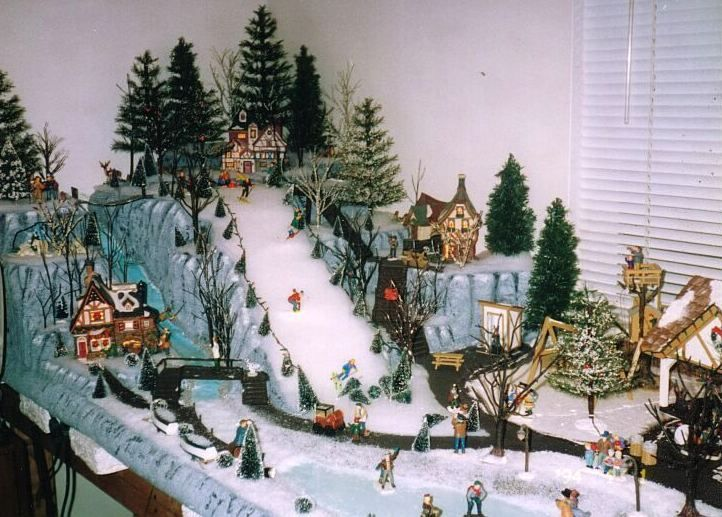 christmas village displays christmas tree village display platform