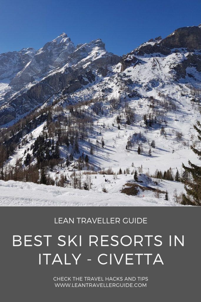 Best Ski Resorts in Italy Civetta Ski Region Best ski