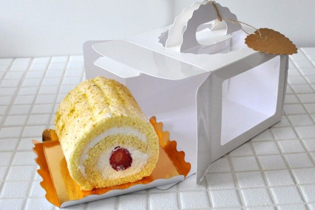 Clear Window Mini Cake Box With Handle Paper Boxes Boxes Mini Cakes Box Cake Food Branding