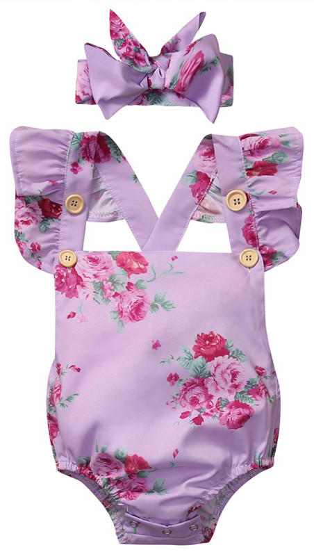 5f9dfb2180b4 SHOP Our Purple Floral Romper for Baby   Toddler Girls