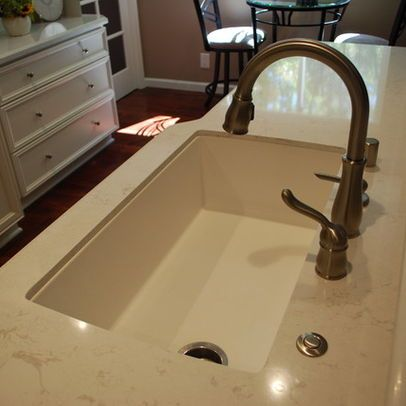 Garbage Disposal Button Instead Of Switch Under The Sink Must Have And Sink Drain On Side Of Sink Silgranit Sink Kitchen Remodel Small Contemporary Kitchen