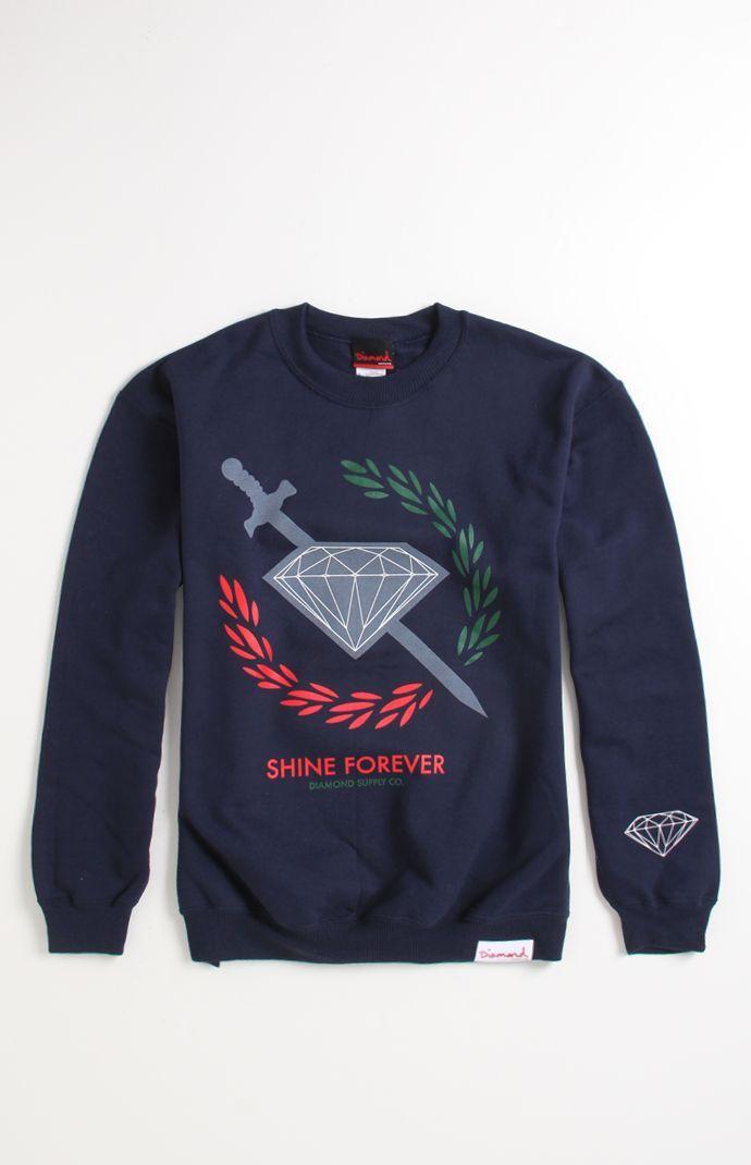 Diamond Supply Co.  Shine Sword Crew Fleece