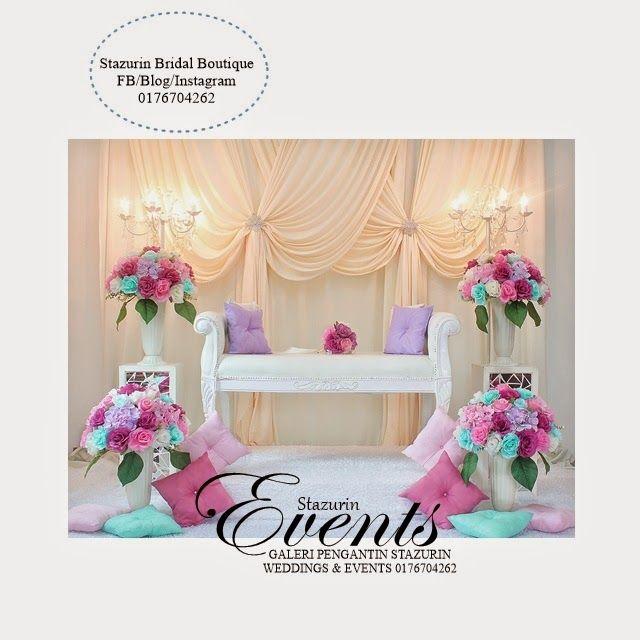 Wedding Nikah Simple Backdrop Decoration Muslim: Pelamin Mini Tirai Eksklusif Nikah Sanding Pakej Dewan