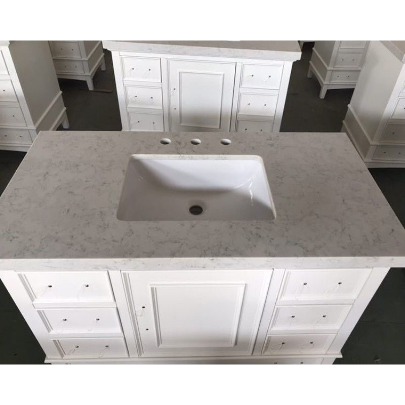 Arctic White Quartz Countertops Bathroom Vanity Tops China