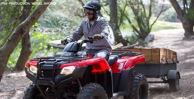 New 2017 Honda FourTrax Rancher 4x4 ATVs For Sale in Texas. Any mechanic, woodworker, tradesman or craftsman knows that the right tool makes the job a whole lot easier. And having the right tool means having a choice. We've all seen someone try to drive a screw with a butter knife, or pound a nail with a shoe heel. The results are never pretty.Honda's FourTrax Rancher line are premium tools for the jobs you need to do, whether that's on the farm, the jobsite, hunting, fishing, exploring…
