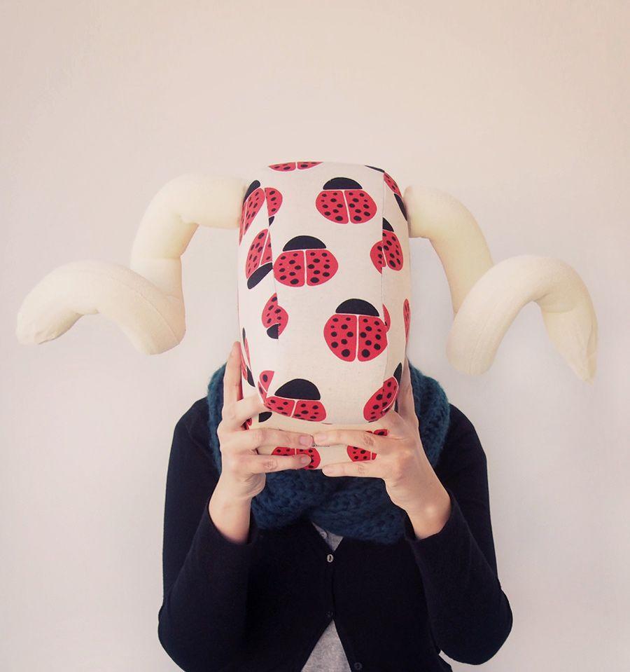 Cabeza de ciervo de tela cabezas de animalitos cabezas de animales cabeza de ciervo y ciervo - Cabezas animales tela ...
