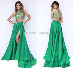 Vestido Noche Dos Piezas Dress Vestidos Vestidos Largos