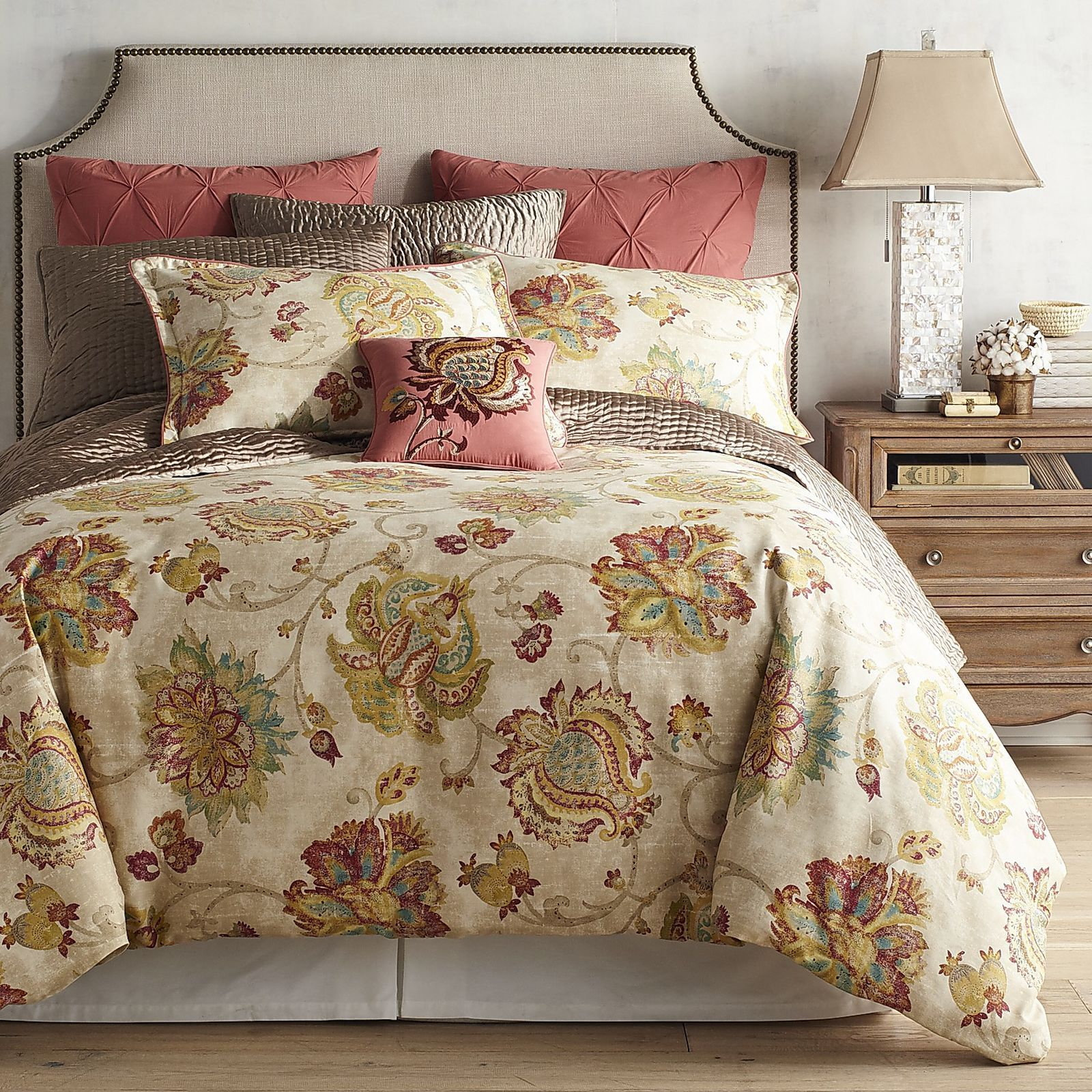 Somerton Floral Natural Duvet Cover & Sham Pier 1