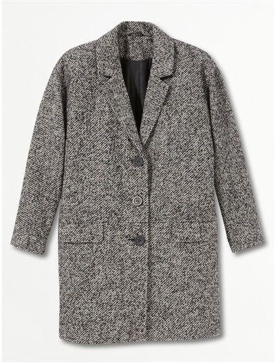 Manteau noir femme style masculin