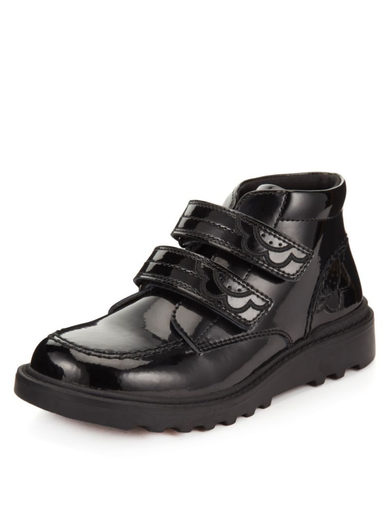 Leather Scuff Resistant Patent Ankle