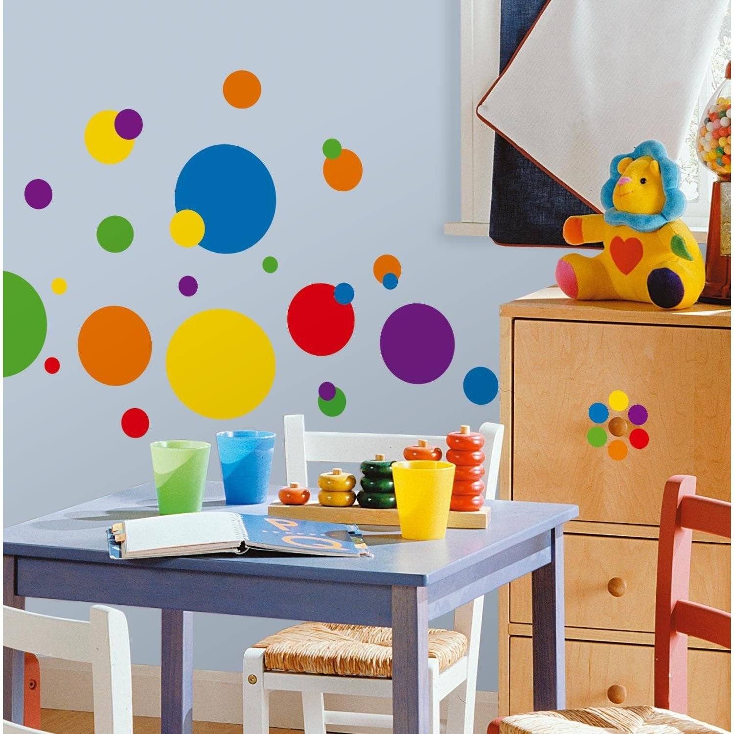 Primary Color Dots, Peel & Stick Wall Decals http://product ...