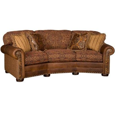 King Hickory Ricardo Leather/Fabric Conversational Sofa, Sold At The Lite  Company! Come To The Store To Choose From Dozens Of Frame Styles And  Hundreds Of ...