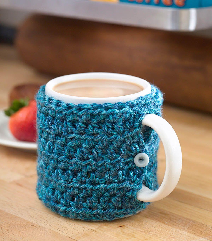 Free Easy to Crochet Mug Cozy Patterns | Cozy, Stitch and Crochet
