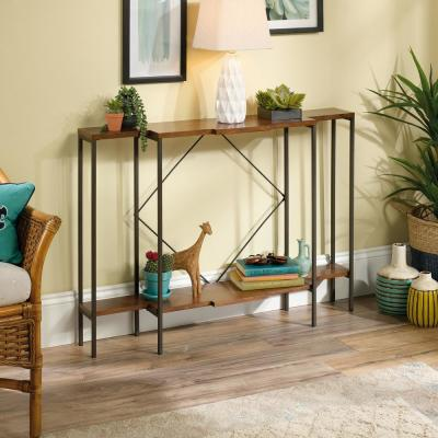 Sauder Viabella Collection Warm Cherry Console Table 420352 The Home Depot Console Table Furniture Living Room Furniture