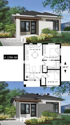 Small and affordable Modern style house, ideal for first-home buyers, 2 bedrooms, open floor plan layout