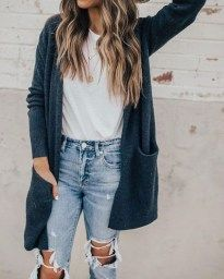 winter outfits tumblr 46 Wunderbare zerrissene Jeans Winter Outfits Ideen