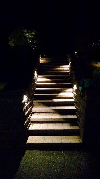 Led deck and step light 4 watt hardscape lighting led light strips