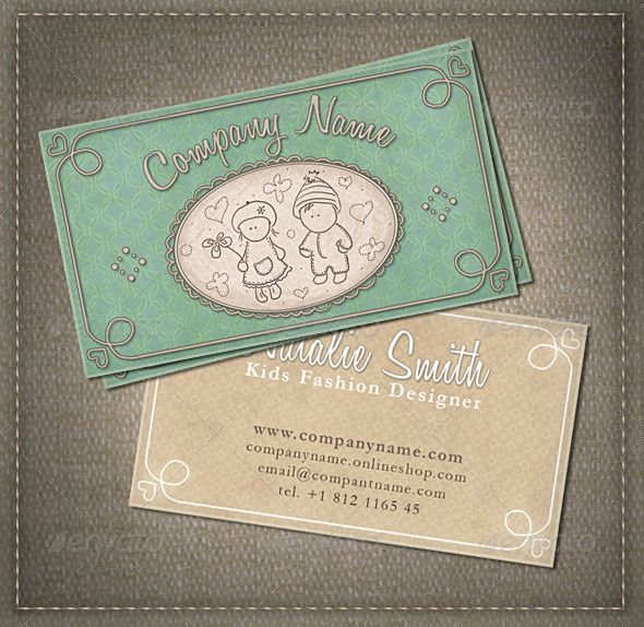 Kids And Babies Business Card Business Cards Card Templates And - Kid business card template