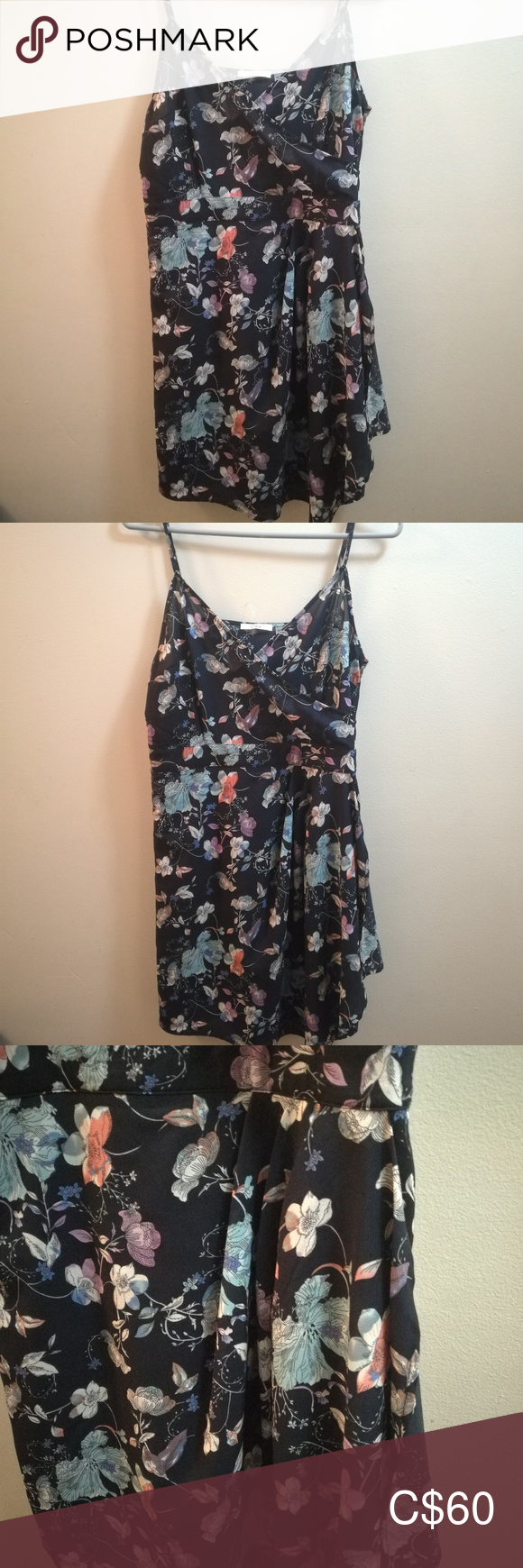 Dex Floral Crossover Dress NWT 2