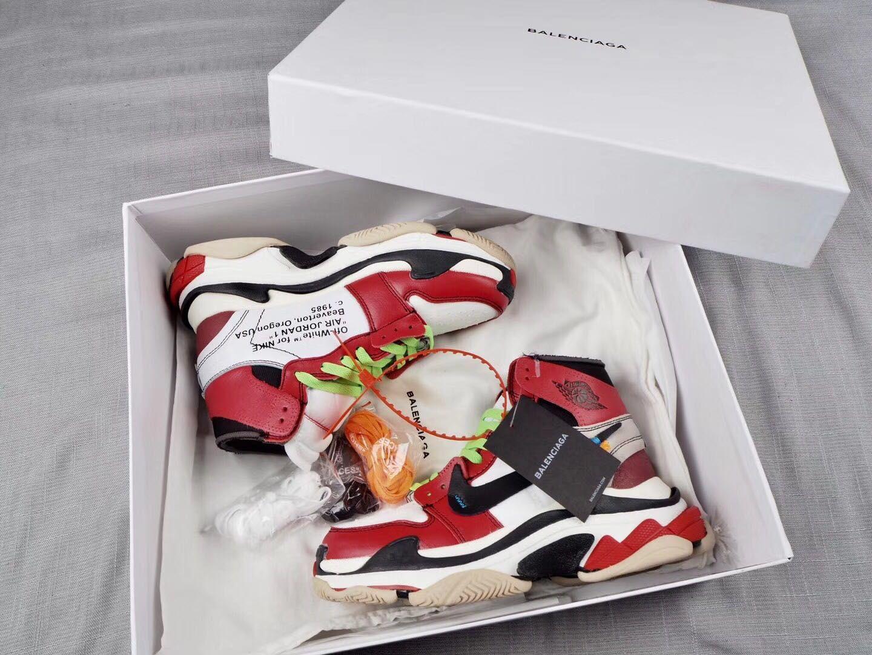 new concept 1d872 bc1f3 Off-White x Nike Air Jordan 1 x Balenciaga Triple S Custom | kicks ...