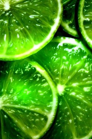 Lucious lime slices