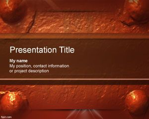 Oxide Powerpoint Template Is A Free Abstract Powerpoint Theme For