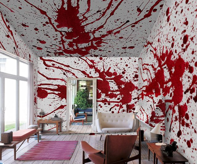 Blood Bath Wallpaper... maybe in the guest bedroom