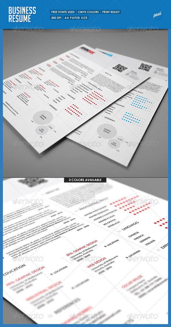 Simple Resume/Cv Volume 4 | Business resume, Simple resume and Resume cv
