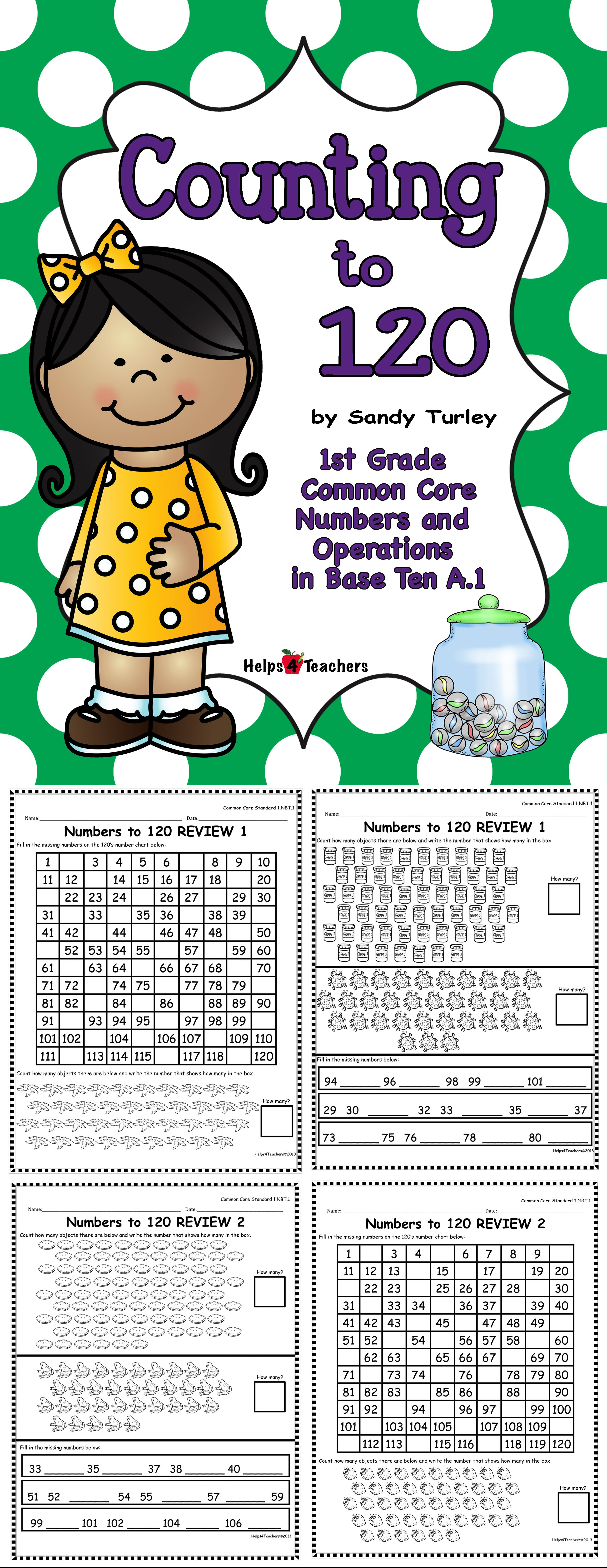 Ccss 1 Nbt 1 Counting To 120 Numbers And Operations In