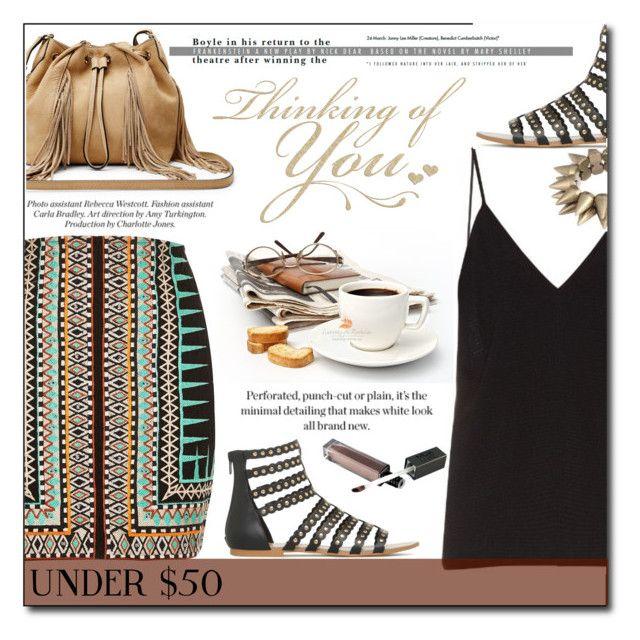 """under50"" by fashion-pol on Polyvore featuring River Island, Raey, Diane Von Furstenberg, under50, polyvorecontest, polyvoreditorial and skirtunder50"